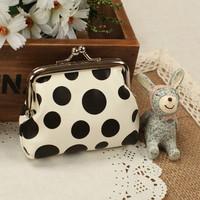 A cute coin purse!Dot PU leather women zero wallet, coin purse,buckles COIN bags , change purse