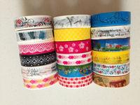 1591 ! pattern Colorful rice paper Tape/DIY Printed Tape/ Japanese masking tape, packing, scrapbooking 200pcs/lot Free shipping