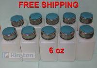 (10 pcs/lot) pump dispenser bottle Pumping Alcohol Dispenser Cleaner Bottle 6oz white color free shipping
