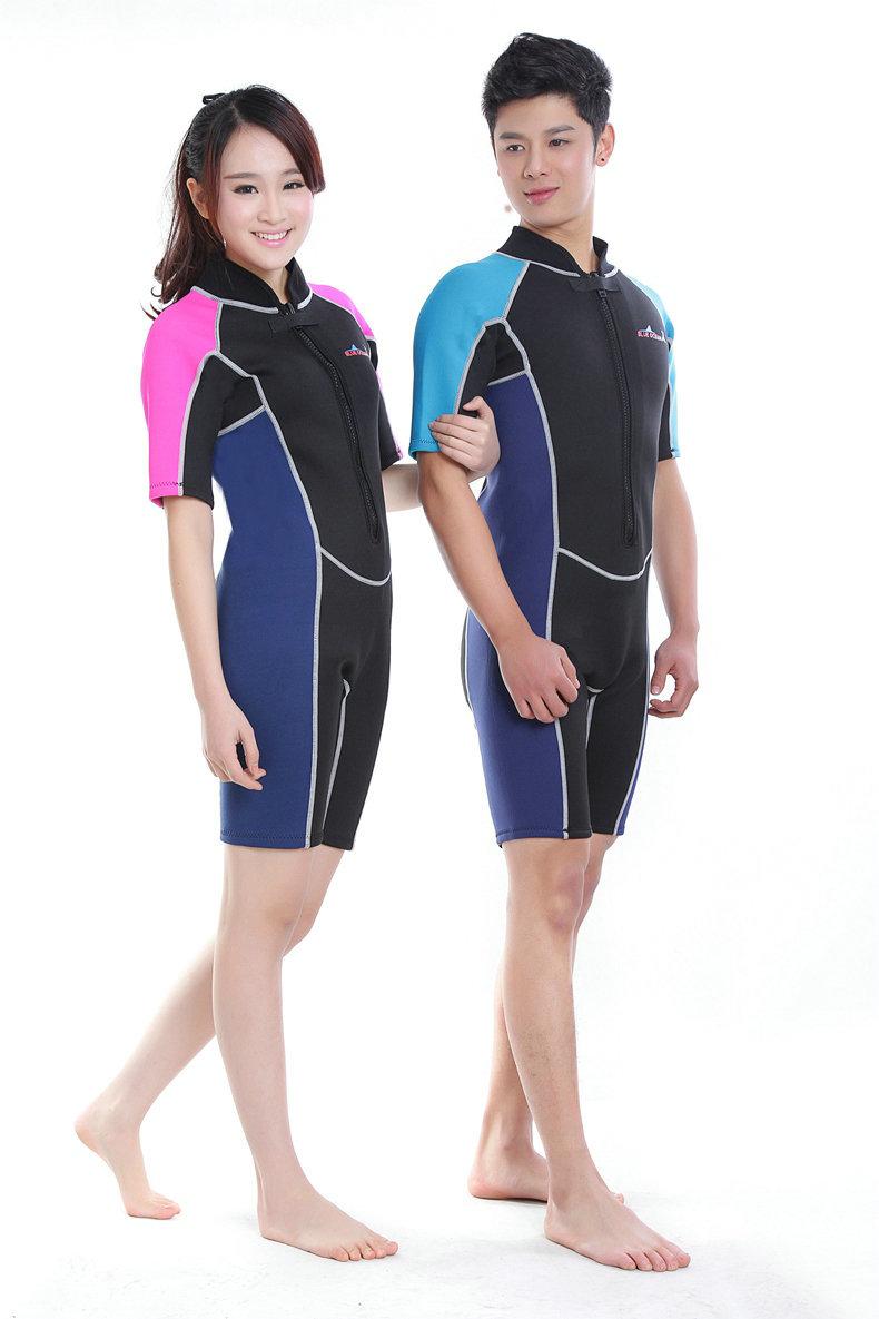 3mm Neoprene Swimming Wetsuit Scuba Diving Surfing Suit Spearfishing Suit Warm Winter Swimwear 3mm Long&2mm Short Sleeve 4 style