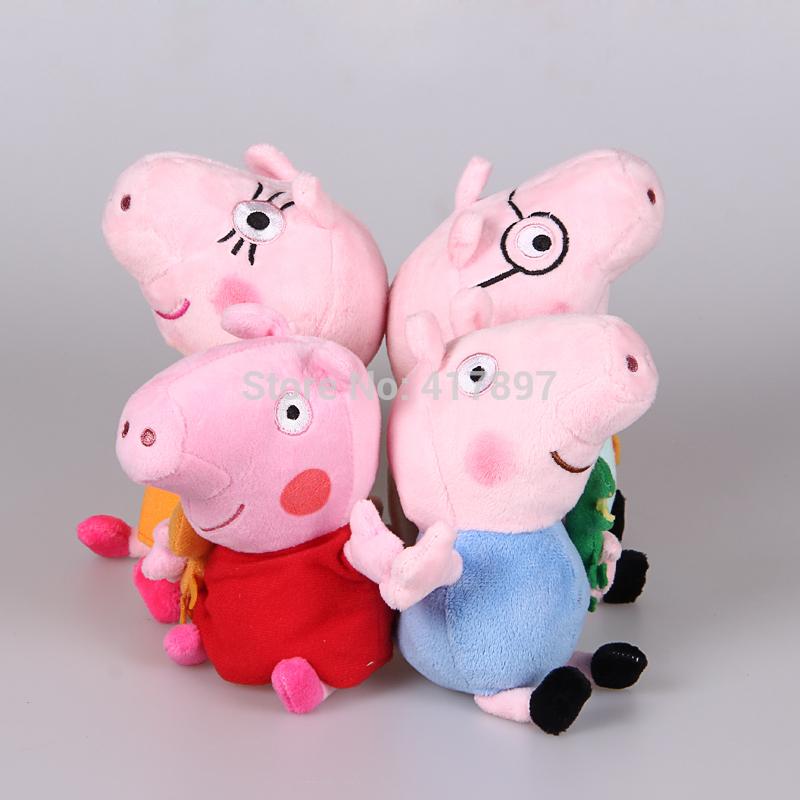 Peppa Pig Toys New 2014 Baby Anime Toys Pepa Pig Peppa Pig Plush Family Set Doll Gift For Chilren Gilrs Boys(China (Mainland))