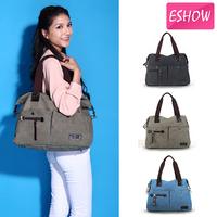 Eshow Women Clutch Tote Bag Canvas Women Handbag Blue Shoulder Bags BFK008701