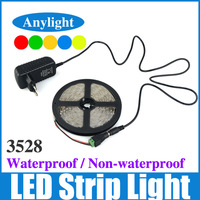 3528 12V SMD Flexible LED Strip Light 300 Led 5M 60Led/m +2A Power +DC Adapter White/Warm White/Blue/Red/Green/Yellow WLED21