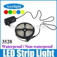 3528 RGB waterproof led strip 5 M IP 65 smd Flexible Strip light+44 keys IR Remote controller+12 V 2 A transformer WLED21