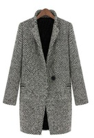2013 fashion long wool jacket for women LOOK BOOK new style plus size S/M/L/XL