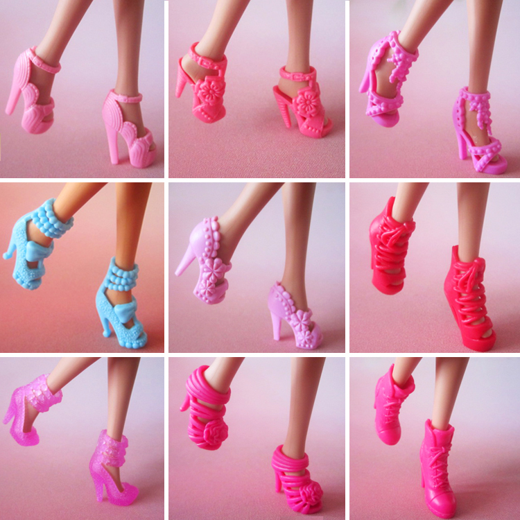 Quality mix style mix color high-heel shoes for barbie free shipping