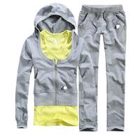 2014 spring slim with a hood fashion sportswear casual sweatshirt sports set Women Free shipping