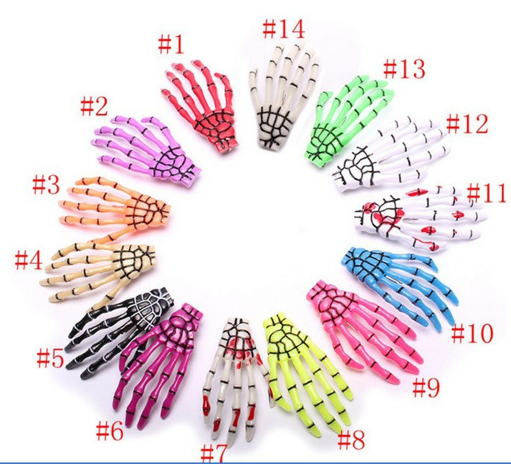 Min order is $10(mix order)sell by Pairs Skeleton Claws Skull Hand Hair Clip Hairpin Zombie Punk Horror Bobby Pin Barrettes 07(China (Mainland))