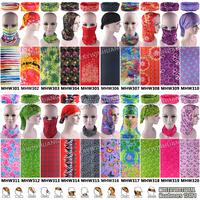 Free Shipping 1pc/lot Retail Latest Fashion Various Microfiber Tube Outdoor Sports Headwear Headbands Multi Bandana For Women