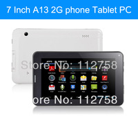 7inch Capacitive Screen Q88 A13 Tablet 7 PC Android 4.0 512M 4G 2G GSM phone call Dual Camera Allwinner MID With SIM Card Slot