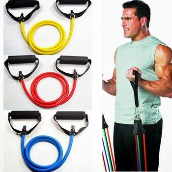 New Black Yoga Resistance Bands Elastic String Fitness Exercise  Sliming Latex Tube Workout