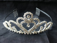 Silver Rhinestone/Crystal Tiara/Crown For Wedding Pageant Party