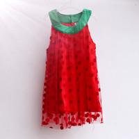 hot sale 2014 summer baby girls cute polka dot lolita style girls dresses Free shipping (5pcs/lot) 0~6age shij