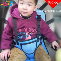 Hot Child Car Safety Seats 3 Color 1pcs Free Shipping Portable Baby Car Safety Booster Seat dining chair seat belt drop shipping