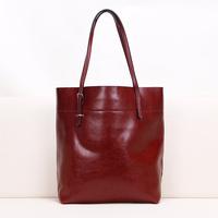 2013 women's genuine leather handbag crack popular cowhide two-color women's bags one shoulder handbag shopping bag