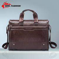 Hot Sale New 2015 Fashion Genuine Leather Men's Briefcase, Business Handbag, Men Messenger Bag, Big Bags Black Brown Coffee 1955