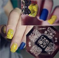 Free Shipping 2014 New Fashion Nail Art Set 10 Templates +1 Scraper+1 Stamper  DIY Stamping Nail Decoration Tools#NP029