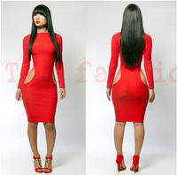 2013 Free shipping  wholesale New fashion bandage dress hot bodycon dress sexy women elegant black dresses LYQ1380