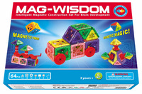 Mag-wisdom 64 Pcs Magnet Transform Magnetic Construction Set New 2014 Car Model