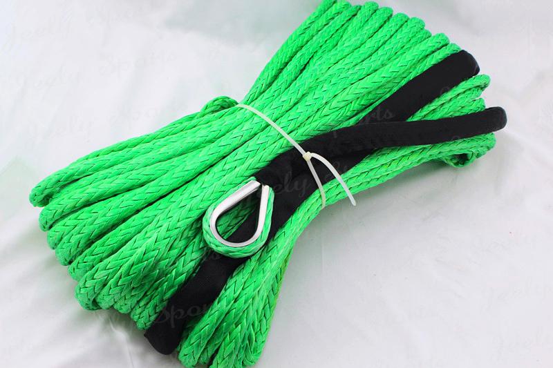 Бесплатный экспресс 10 мм 30 м свмпэ синтетический трос лебедки кабель с наперсток для ATV / UTV / SUV / 4 X 4 / 4WD