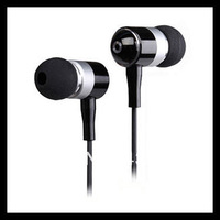 Fashion Metal Earphone Brand New Bass Headphones Headphone In Ear Headset  Box Free Shipping !!