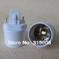 G24q to E26 lamp base adapter GX24q light bulb socket converter 100pcs per lot By DHL FREE SHIPPING