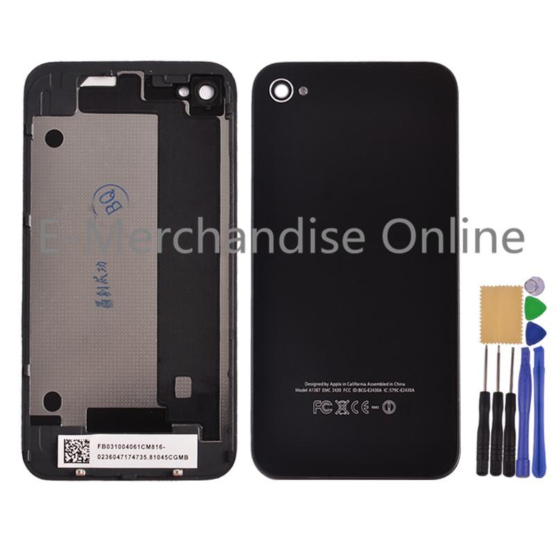 Batterie oem pour couvrir iphone 4 4s choisir! Quatrième de couverture porte arrière plaque de panneau de verre logement replacement+free outils noir./blanc
