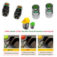 4pcs /set Auto Tire Pressure Monitor Valve Stem Caps Sensor Indicator Eye Alert Diagnostic Tools Kit
