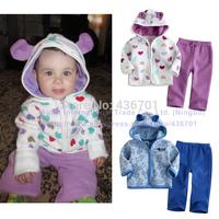 2014 brand Winter baby girl clothing set cartoon children outwear kids hoodies zipper coat jackets child winter clothing set