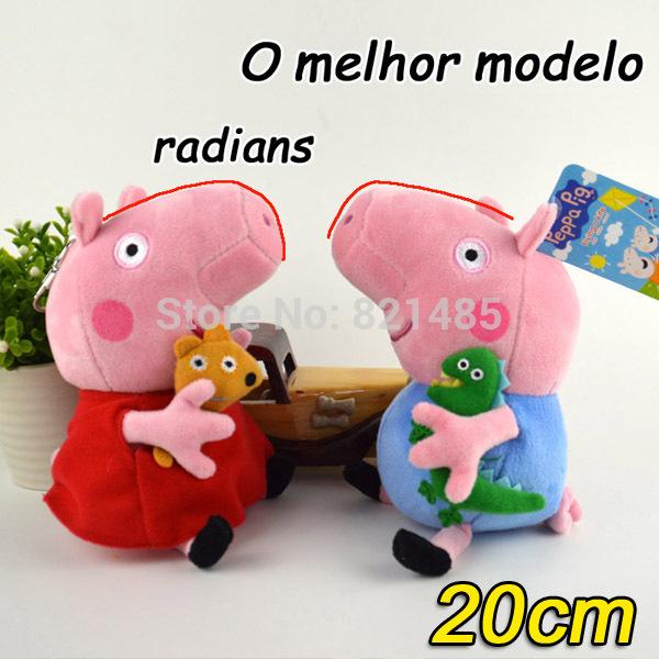 2pcs/lot 20cm Peppa and George Pig Stuffed Animals & Plush Baby Toys Peppa Pig Toys Christmas Gifts Brinquedos Kids Toys Boneca(China (Mainland))