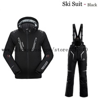 2014 Tops Polo Winter Casual Dress Clothing Set Pelliot Snow Ski Suits Jacket Pants Men Waterproof breathable thermal Snowboard