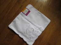 "100% cotton squareTable napkin handkerchief cutwork napkin hanky white 12""x12""=30cmx30cm"