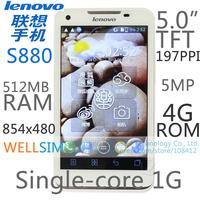 "Original   Lenovo S880 Multi language Mobile phone 5.0""TFT 800x480 Single-core1G 512MB RAM 4G ROM  Android 4.0 5MP"