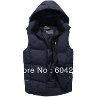 New 2013 autumn and winter male down cotton men's thermal vest fashion cotton vest cotton vest outerwear RLX1305