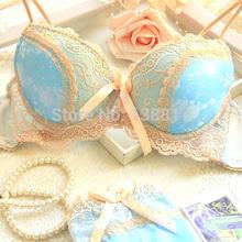 2013 Vitoria nova sexy cor luxuoso hit cetim três conjunto underwear breasted B / C / D xícara de ajuste mais lado empurrar para cima conjunto de sutiã