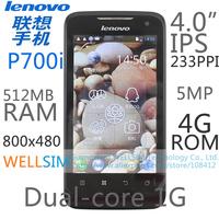 "Original   Lenovo P700i Multi language Mobile phone 4""IPS 800x480 Dual-core1G 512MB RAM 4G ROM  Android 4.0 5MP"