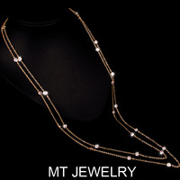 MT Limited 1 MOQ Online Shopping Strands of Zircon Bezel Set Necklace