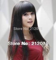 "10""-26'inches Brazilian virgin human hair *Lace Top head wig*Fashion Women wigs*Dark Brown Color*"
