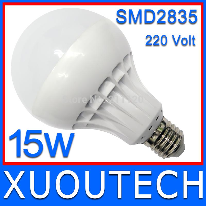 High Brightness Free Shipping SMD2835 Led Bulb 3W 5W 7W 9W 10W 12W 15W Glob