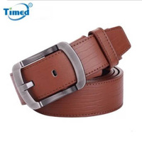 Fashion men's commercial casual  belts Second layer of cowhide Two colors 120CM Long Length men brand belt