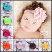 Girls headwear Baby Headband Infant Chiffon Eyelet Flower Headbands hair band Photography props Hair accessories