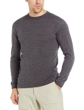 Male Pure 100% New Merino Wool Men's Midweight Crew Outdoor Athletics Sports Long Sleeves Winter Clothing Thermal Underwear Tops(China (Mainland))