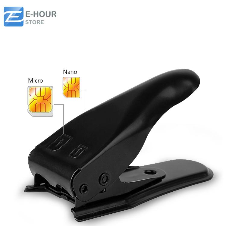 Dual 2 in 1 Micro Sim Cutter for iPhone 5 4s 4 Nano SIM Card SIM Adapter for Samsung Galaxy Regular Sim(Hong Kong)