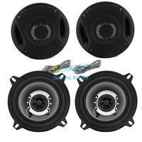 "2PCS/LOT New 300W 91dB/W(1M) 5"" 2-way Two Coaxial Car Motorcycle Stereo Audio Speakers Speaker Black Wholesale TK0692"