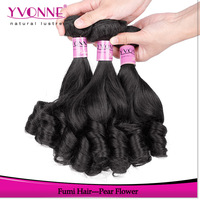 Pear Flower Virgin Hair,3Pcs/lot Remy Curly Human Hair Extension,Aliexpress YVONNE Hair Products,Natural Color 1B