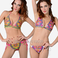 B022 VS Push Up String Secret Brand Bikinis Set For Women Sexy Biquini Brazilian Swimsuit Beach Wear Bathing Suit Cheap 2014 Hot