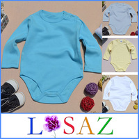 Fashion Long Sleeve 100% Cotton Baby Bodysuits Solid Designer Overall Baby Boy Bodysuit Baby Clothes