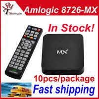 Wholesale 10pcs AmLogic 8726 MX G-Box Midnight Android 4.2 M6 MX2 TV BOX 1GB RAM 8GB XBMC Preinstalled WiFi RJ-45 Ethernet HDMI