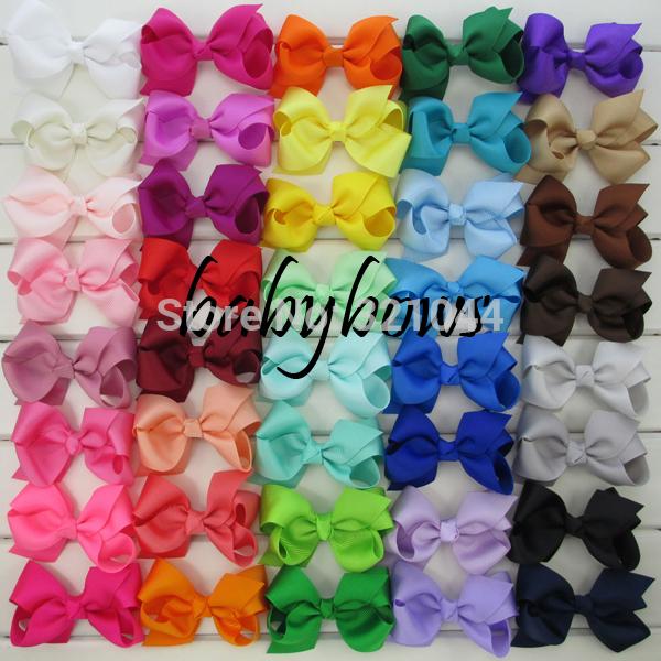 40 colors 3.3'' baby ribbon bows WITH clips,Baby Boutique hair bows,Hairclips,Girls' hair accessories-40pcs/lot-Free Shipping(China (Mainland))