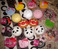 10cm Kawaii Jumbo Squishies Bag Charm Wholesale Free Shipping Big Bread/Panda/Hello Kitty/Big Donut Rare Squishy Bun/Phone Charm